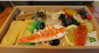 Ekiben (Railway Boxed Meals)- Chirashi zushi (Decoration Sushi)